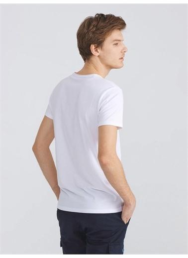 Xint XINT V Yaka Modal Slim Fit Basic Tişört Beyaz